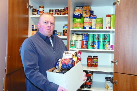 Rev Edwards is shocked at the number of people struggling to feed themselves