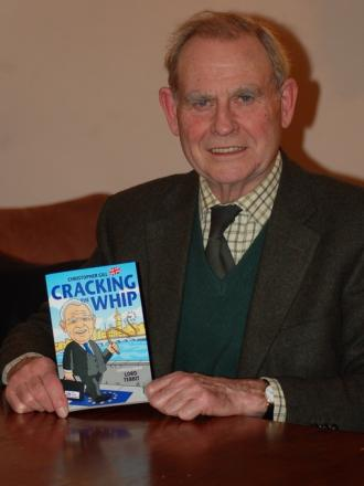 Former Ludlow MP Christopher Gill with his new book Cracking the Whip