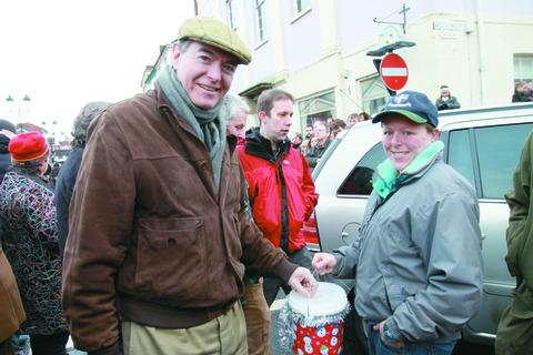 Philip Dunne, making a donation to the Ludlow Hunt.