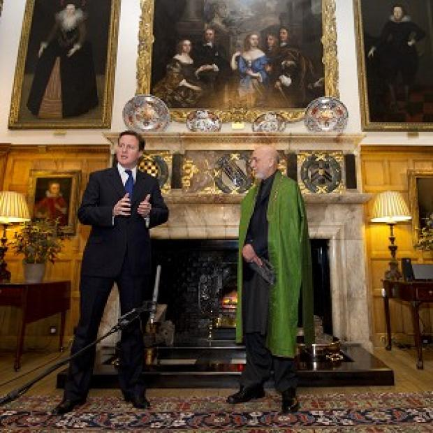 Ludlow Advertiser: David Cameron and Hamid Karzai are to meet at Chequers