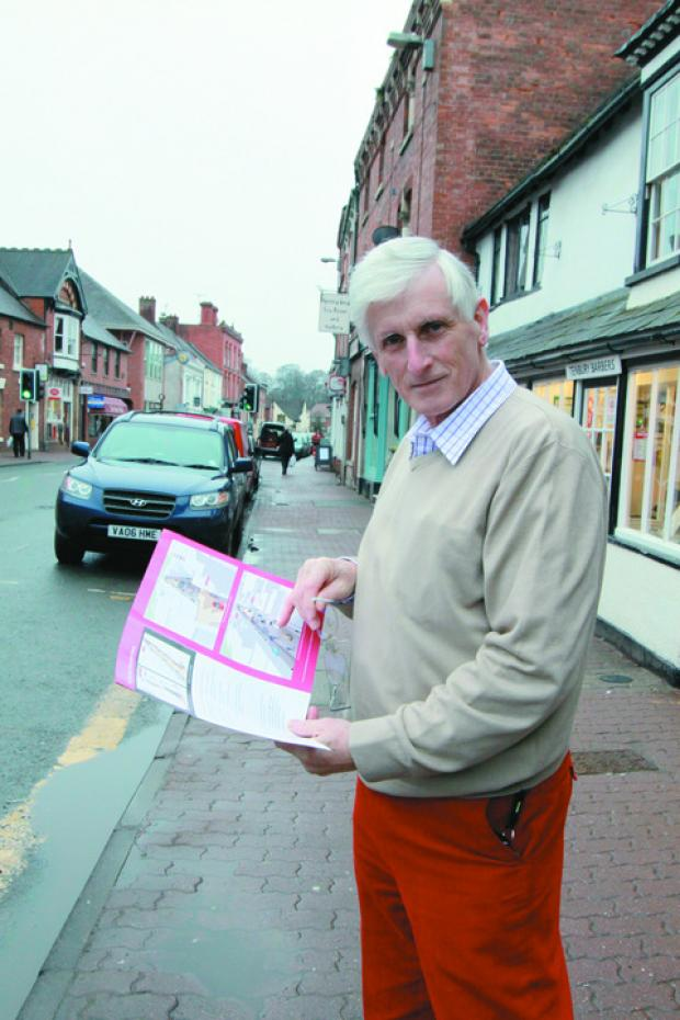 Ludlow Advertiser: Above: Coun Ken Pollock can't see work going ahead without Tesco on board.