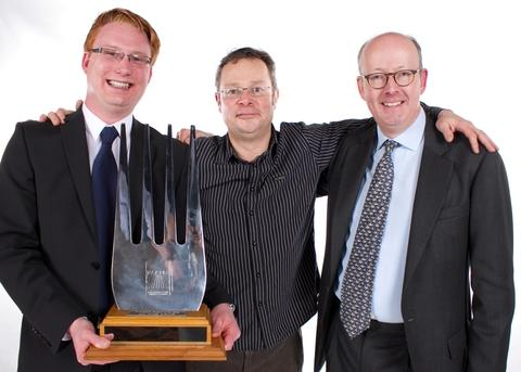 From left: Tom Hunt, marketing manager, Hugh Fearnley-Whittingstall, Edward Berry, managing director.