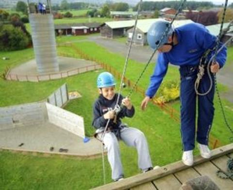 Abseiling fun at the centre