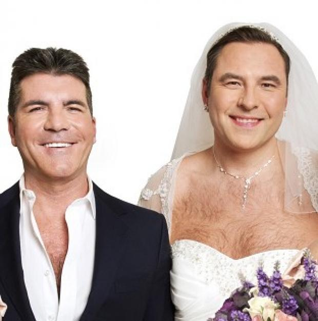 Simon Cowell and David Walliams will star in a wedding sketch for Comic Relief (Ray Burmiston/Comic Relief/PA)
