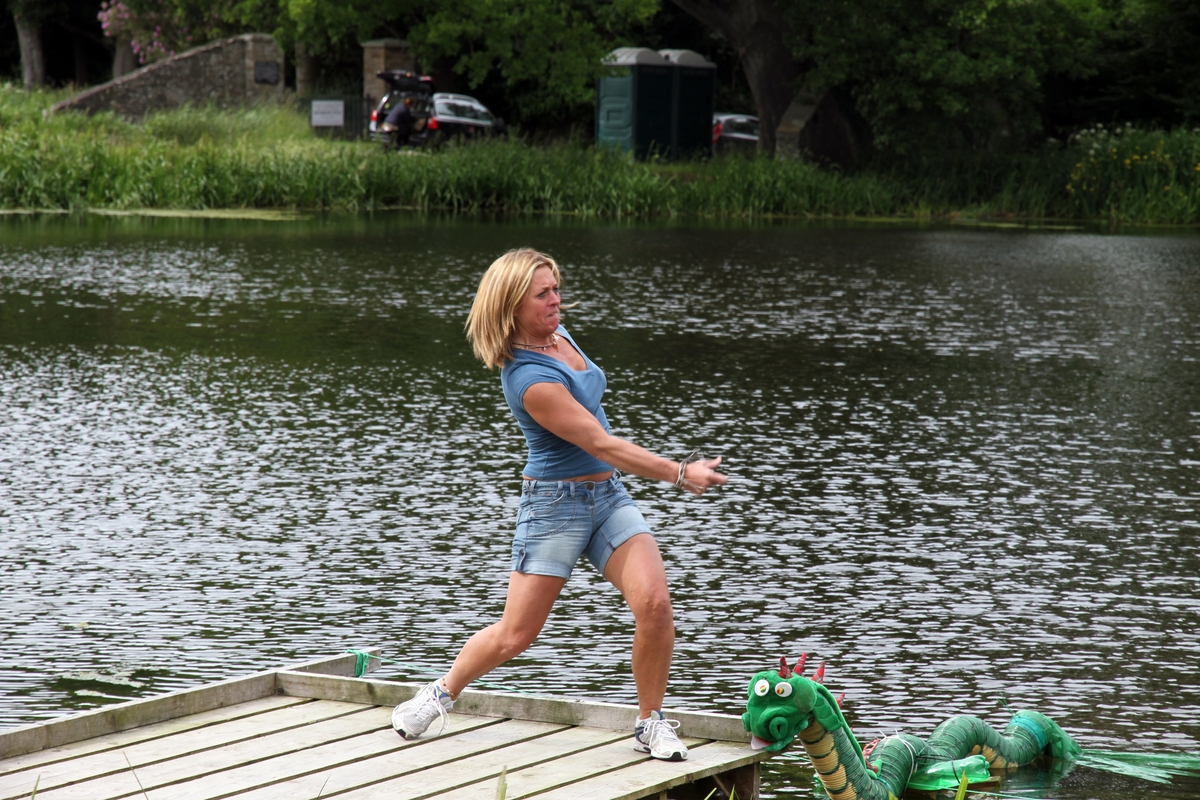 Records have been broken at a stone skimming event in Lydbury North.