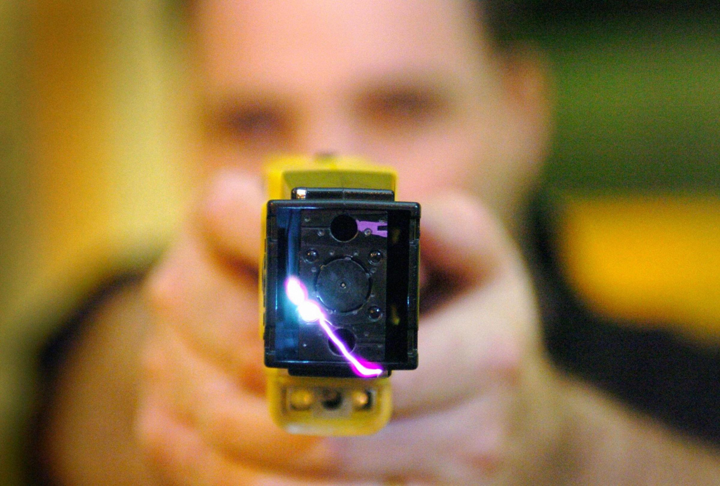 A Taser gun was used by police in Ludlow to subdue a man with mental health problems.
