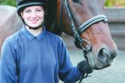 Tasmin Wheeler achieved her level two diploma in horse care studying one day a week at the college over two years.