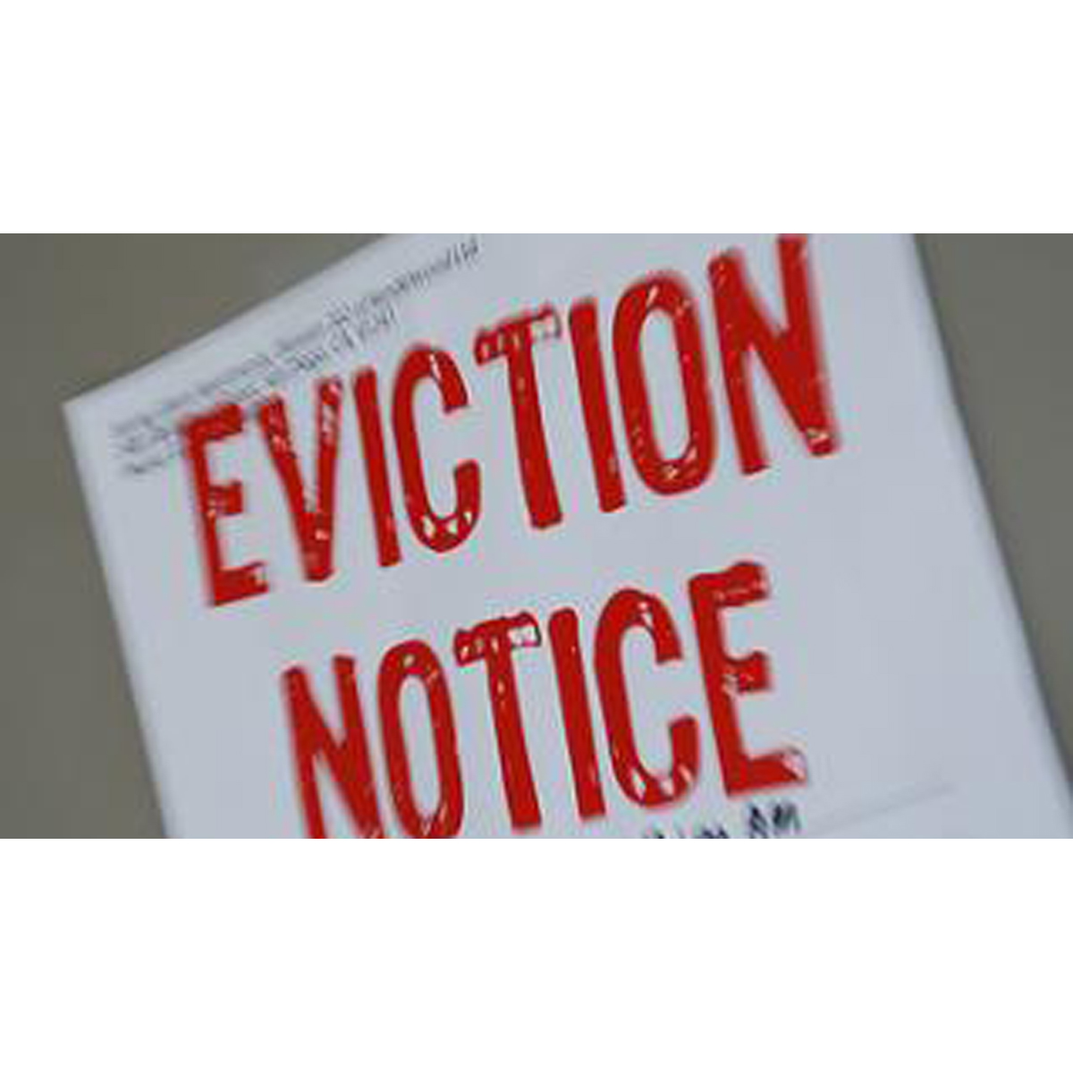 Eviction shock for tenants of social landlords