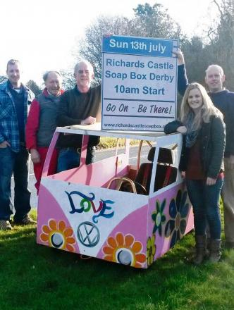 The soap box derby committee promoting this year's event which has been saved.
