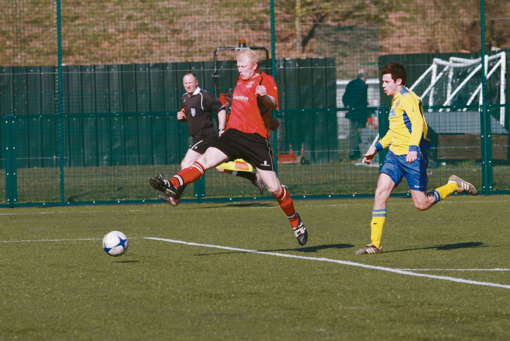 Dan Stack, pictured, will be leading AFC Ludlow's attack at the Showtime Stadium this Saturday.
