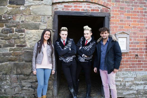 Ludlow Advertiser: Jedward take guests Shannon Flynn and Fergus Flanagan on their Big Adventure in Acton Scott