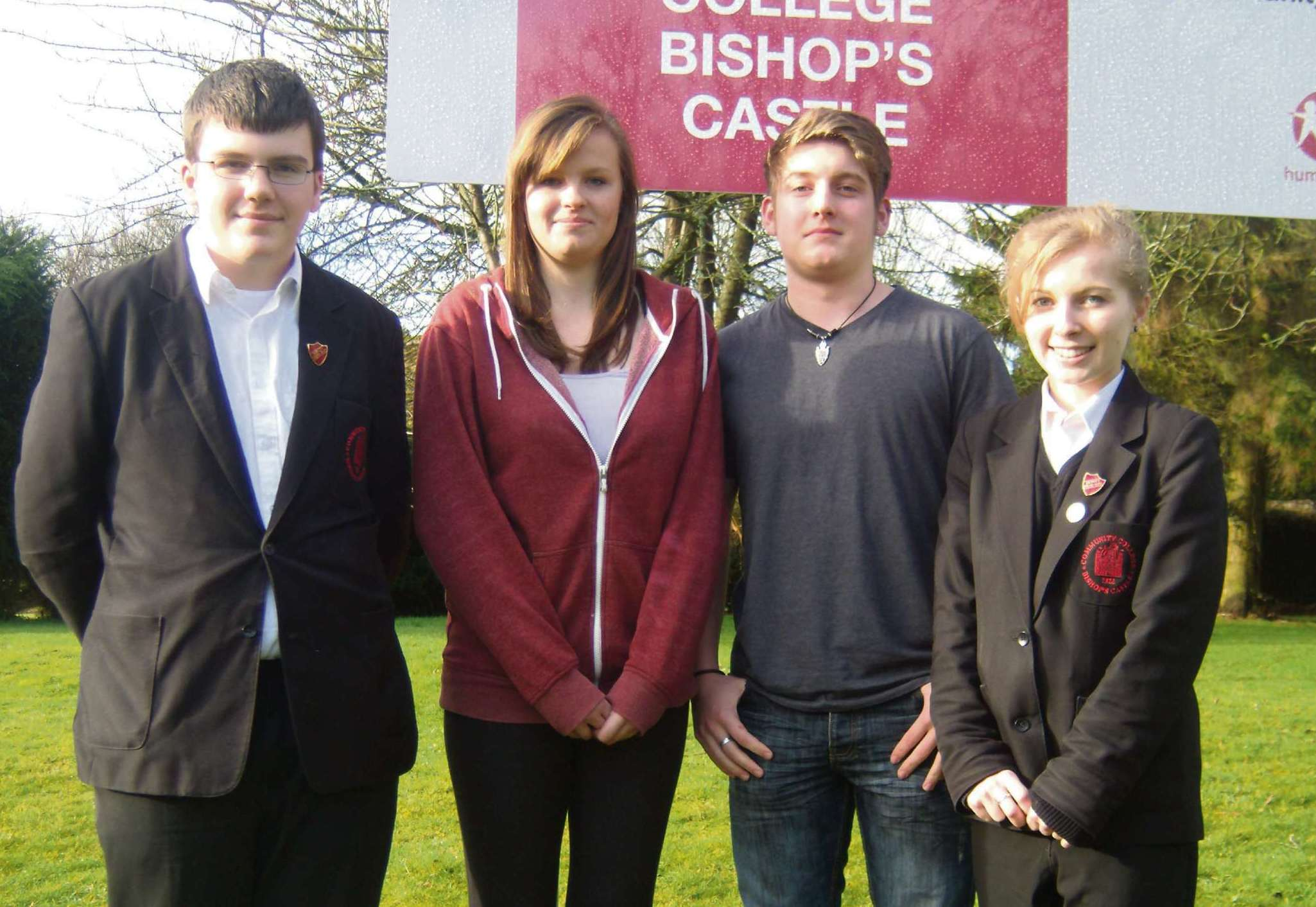 The new student body representatives at Bishops Castle Community College.