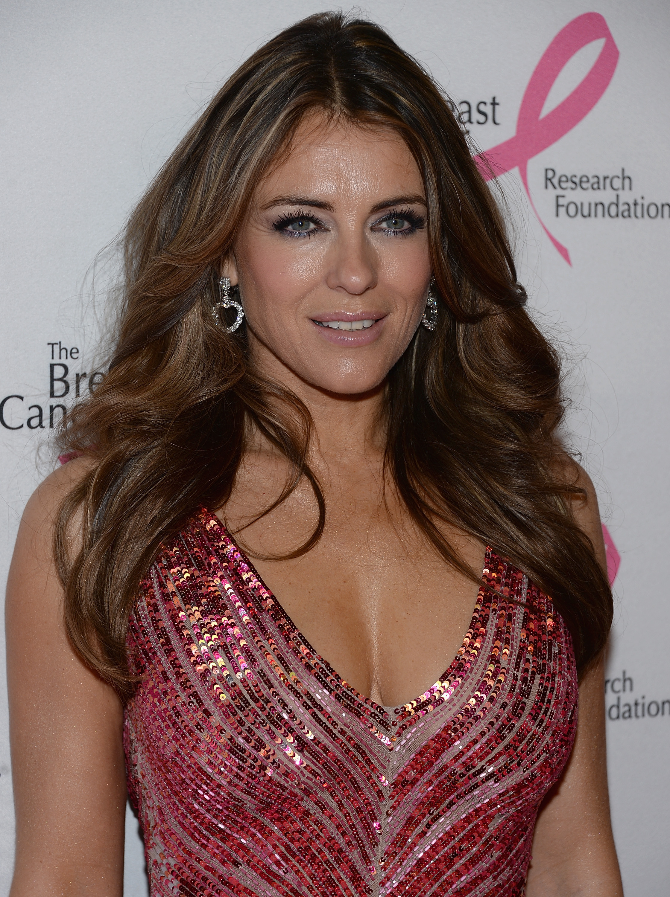 'Appalling' time: Actress Liz Hurley, who lives near Ledbury, has thanked fans for their support. Picture: Dimitrios Kambouris/Getty Images