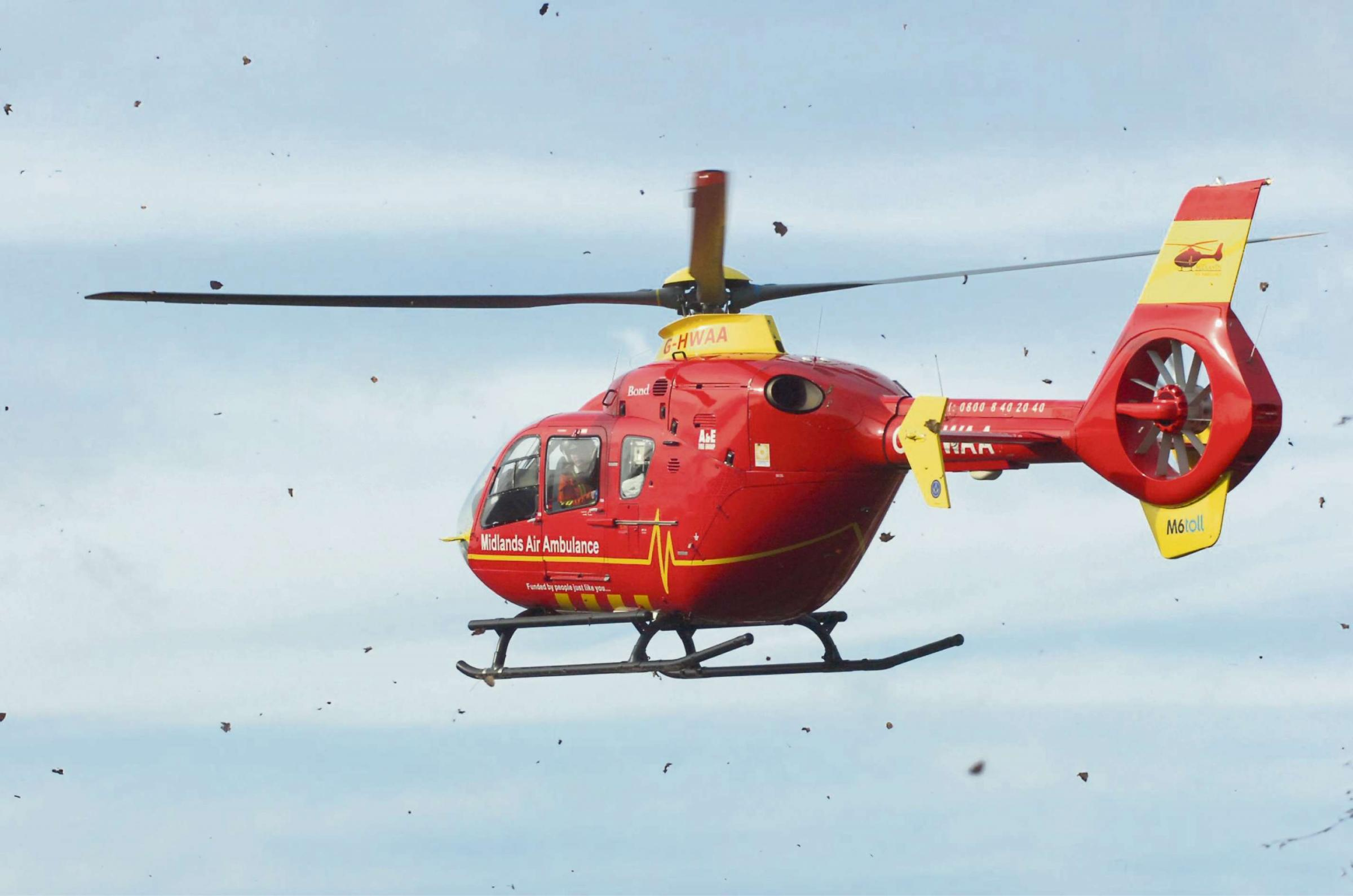 The Air Ambulance was called to an accident on the A49.