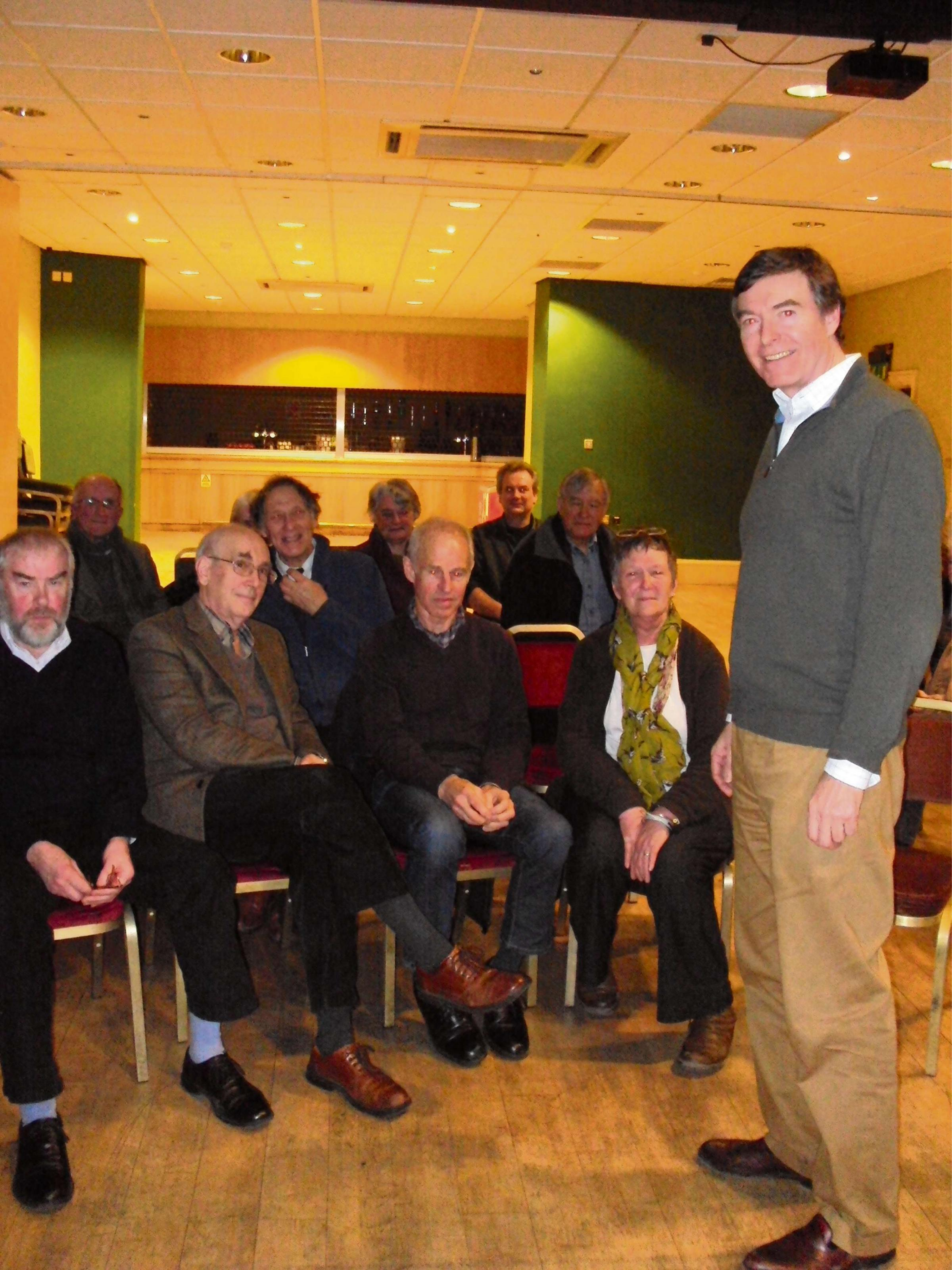 Philip Dunne MP speaking to the local Amnesty group in Ludlow.