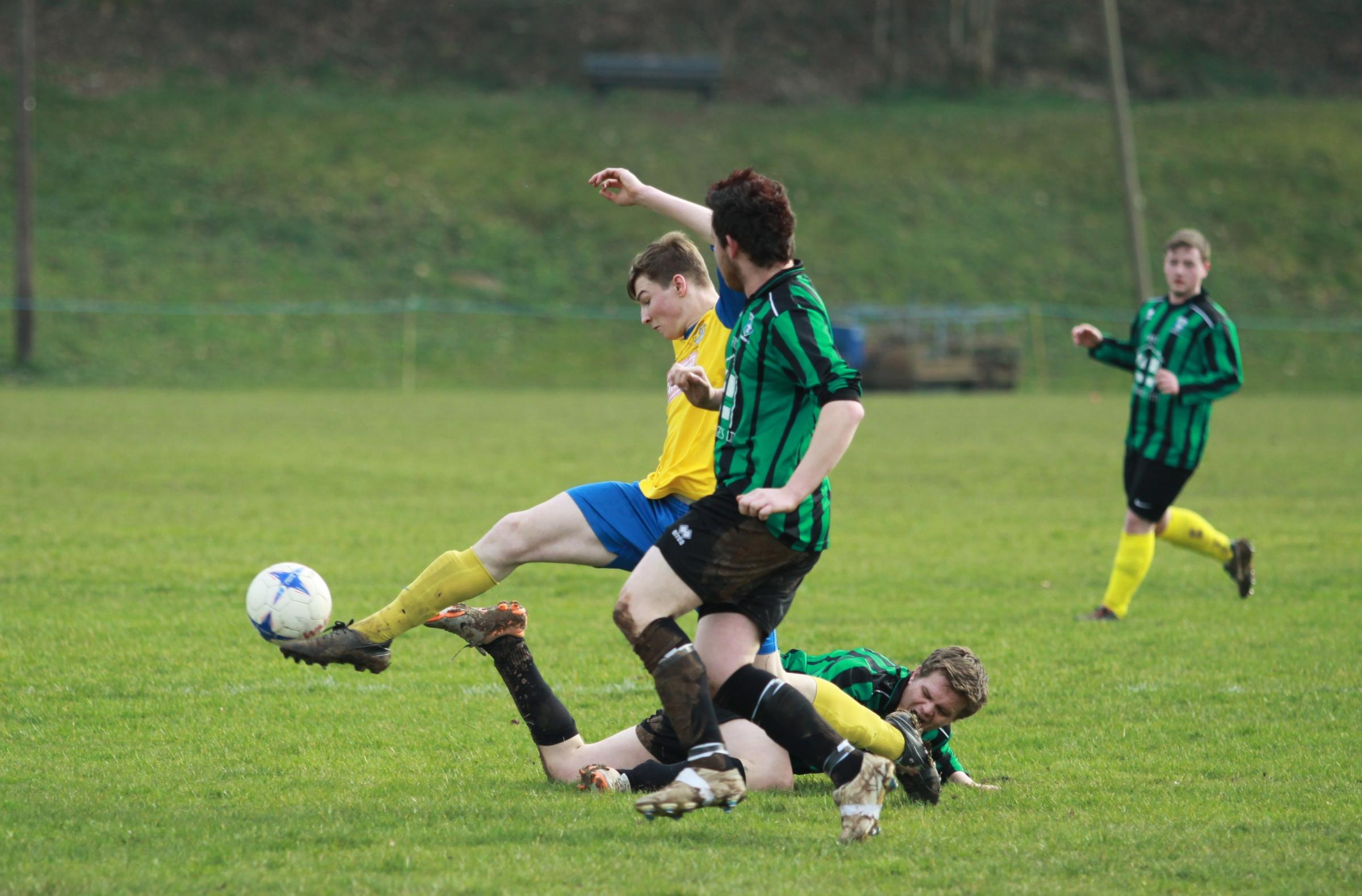 Action from Tenbury United's game.