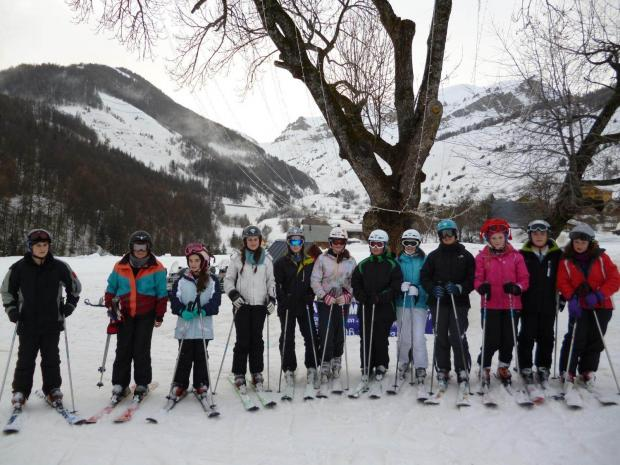 Students from Bishops Castle Community College enjoyed a week's ski trip to the Alpes Maritimes in France during half term.