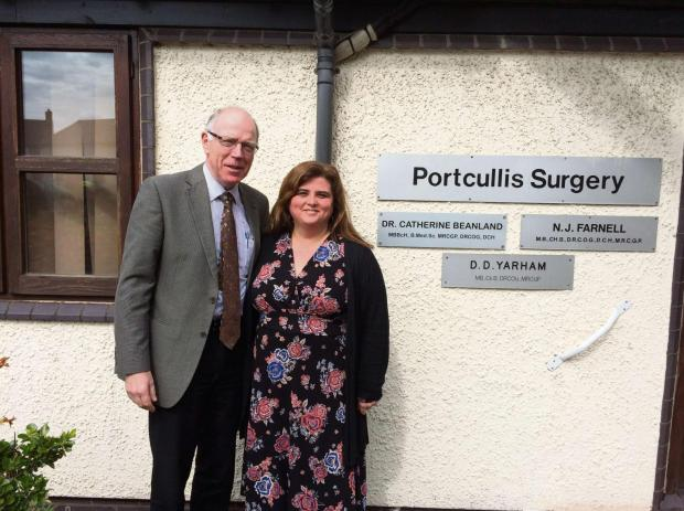 Ludlow Advertiser: Dr Tom Boog-Scott with Dr Catherine Bealand.