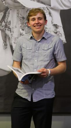 Callum Monteith-Roberts has received a merit award from Aberystwyth University.