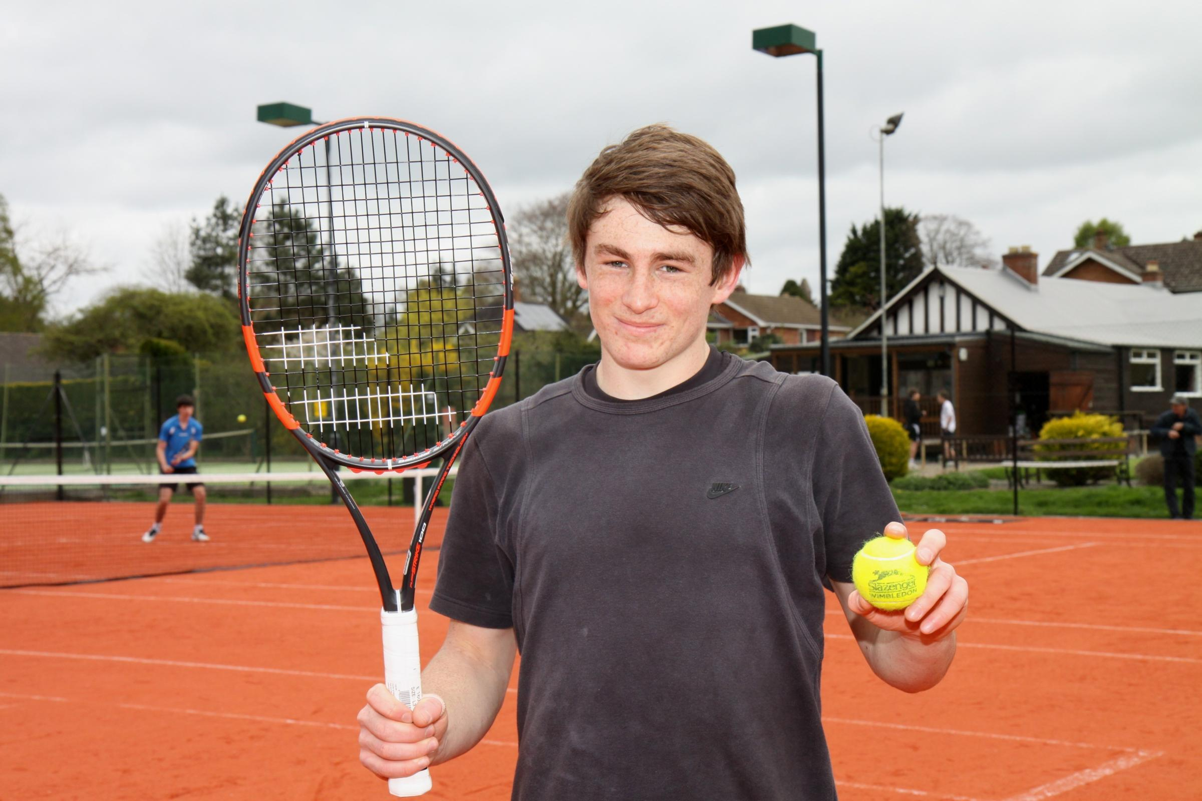 Ludlow Castle Bowling & Tennis Club Club member Stephen Barnfield close up and in action on the new courts   (5387652)