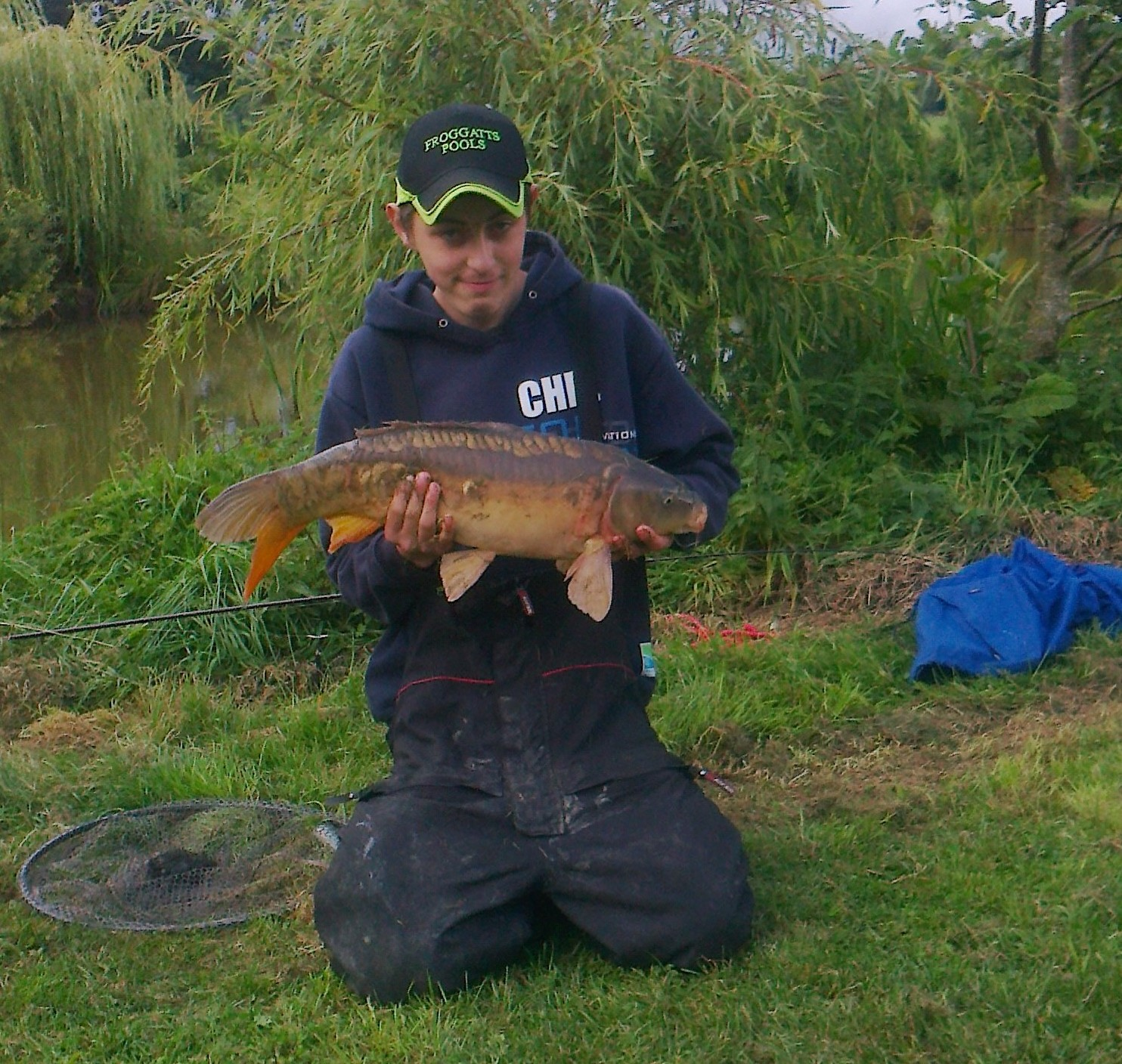Chester Gardener, from Clee Hill, with his top catch.