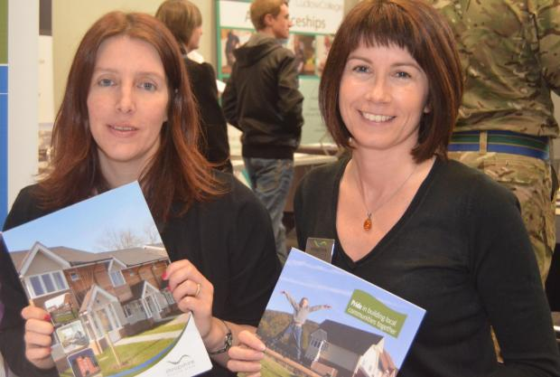 Ludlow Advertiser: Sarah Gren and Sarah Noakes of Shropshire Housing at the jobs fair.
