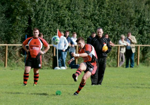 WIll Sparrow, pictured in action, scored a try against Bridgnorth.