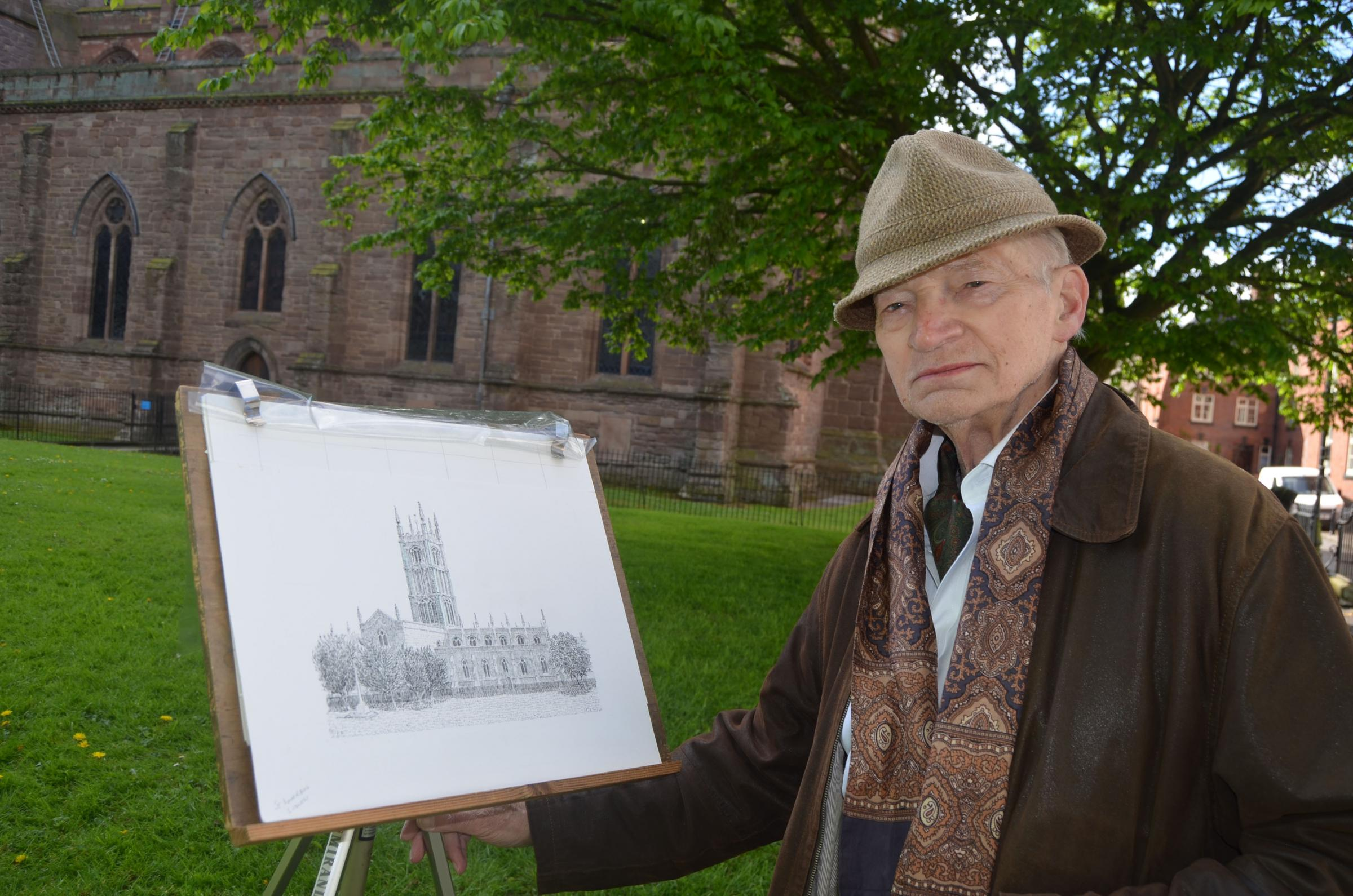 Reg takes his drawing pen to the churches of south Shropshire