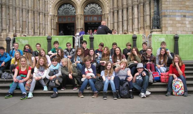 Tenbury High School's visit to the Natural History Museum in London.