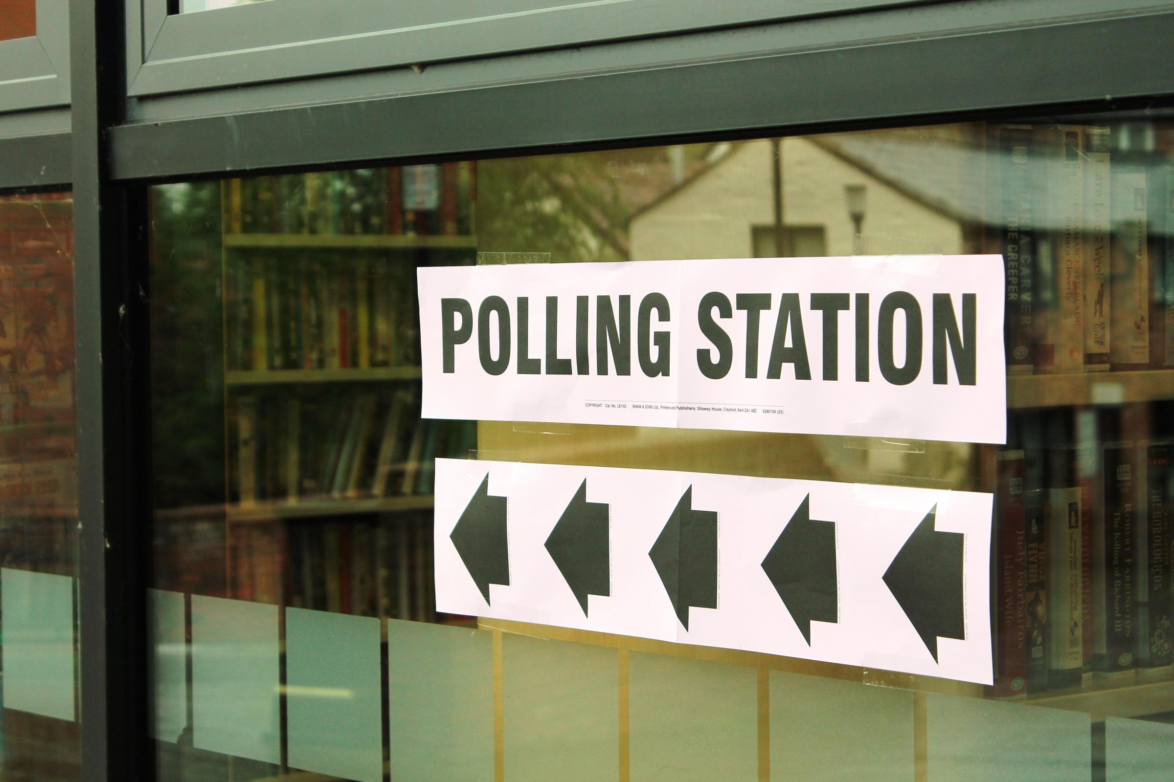 Ludlow Library is one of the polling stations in today's election.