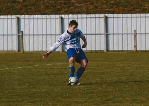 Bishop Castle's Dan Dawson conceded a penalty in Saturday's cup final match.