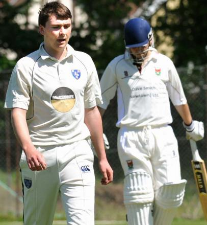 Ludlow seam bowler James Gerritse starred against Cound. Photograph: Chas Breton.