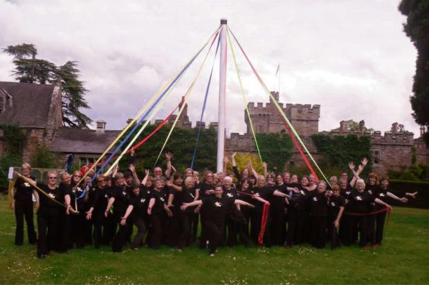 Photo: Got 2 Sing Hereford and Ludlow Choirs, Hampton Court Castle Garden Festival, June 7.