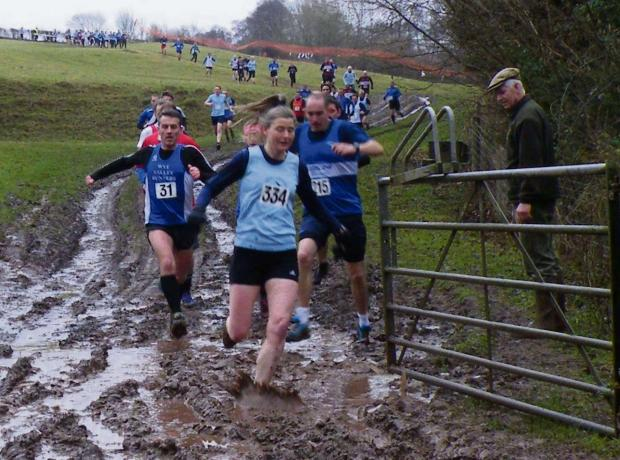 Sue Davies, who won the women's section in the Shobdon Wood Race.