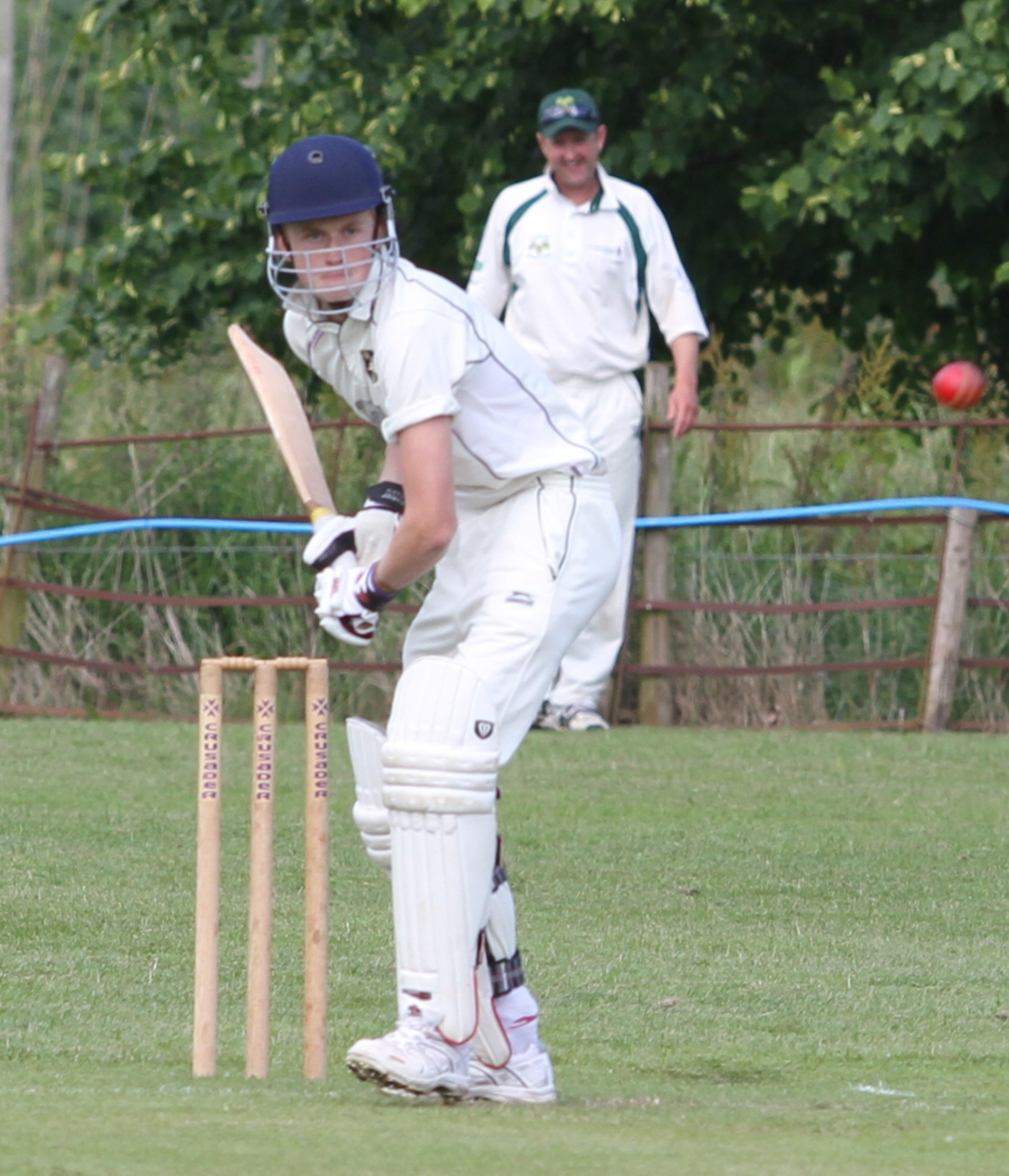 Arthur Smith scored 10 runs in Knighton-on-Teme's nine-wicket loss. Photograph: Keith Gluyas.