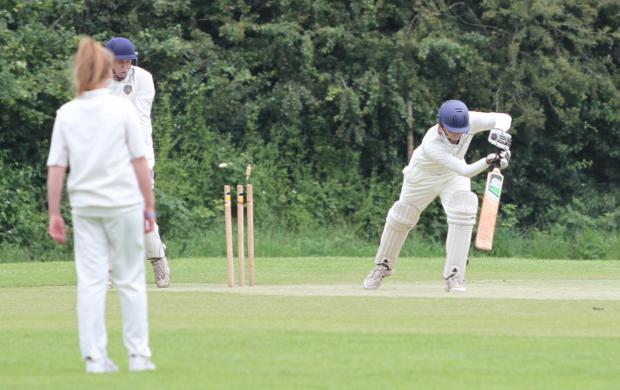 Ludlow Advertiser: Ludlow 4th X1 v Shifnal 4th X1 Contacts for Ludlow 4th joint captains: Simon Miles 07956 159233 or Robin Hillman 01584 873325 A Shifnal 4th wicket falls to the bowling of Alfie Holliehead Photo: Keith Gluyas (6943781)
