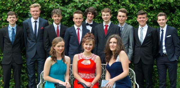 Ludlow Advertiser: School leavers at The Community College in Bishops Castle enjoyed a summer ball at Walcot Hall.