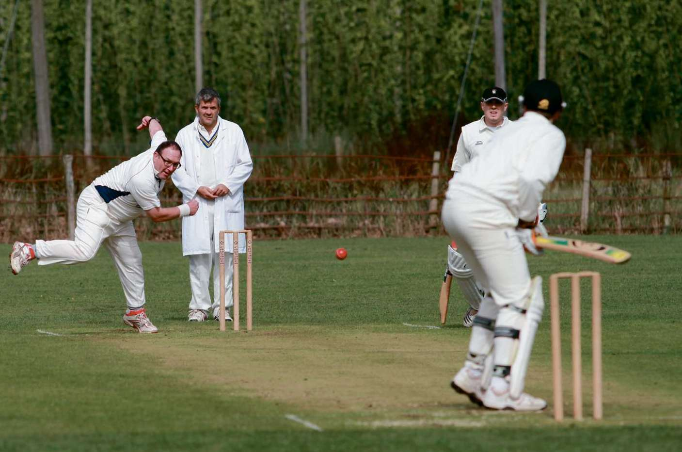Mark Evans, who took five wickets in Knighton-on-Teme's seven-wicket battering of Weobley.