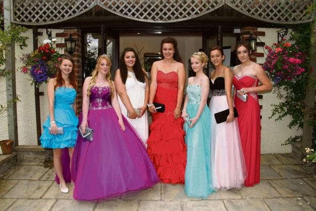 It's possible in the future that students leaving Tenbury High will be able to stay on at its own sixth form. This year's leavers pictured at the school ball are: Nicole Parkes, Gemma Skellern, Sahra  Bouaouina, Jasmine Jordan, Georgina Youngs, Jo