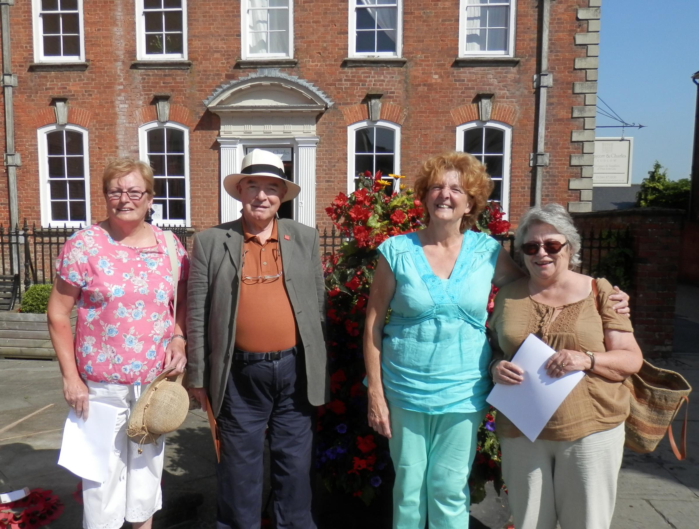 From left are: Rosemary Moseley, John Gittins, Vivienne Parry and Gill Craven.