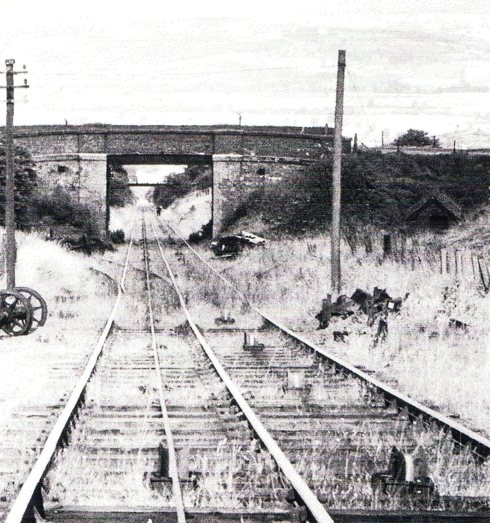 This photo shows the old railway at Clee Hill just before closure in 1961.