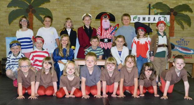 The children of Whitton Primary school just before their end of term performance.