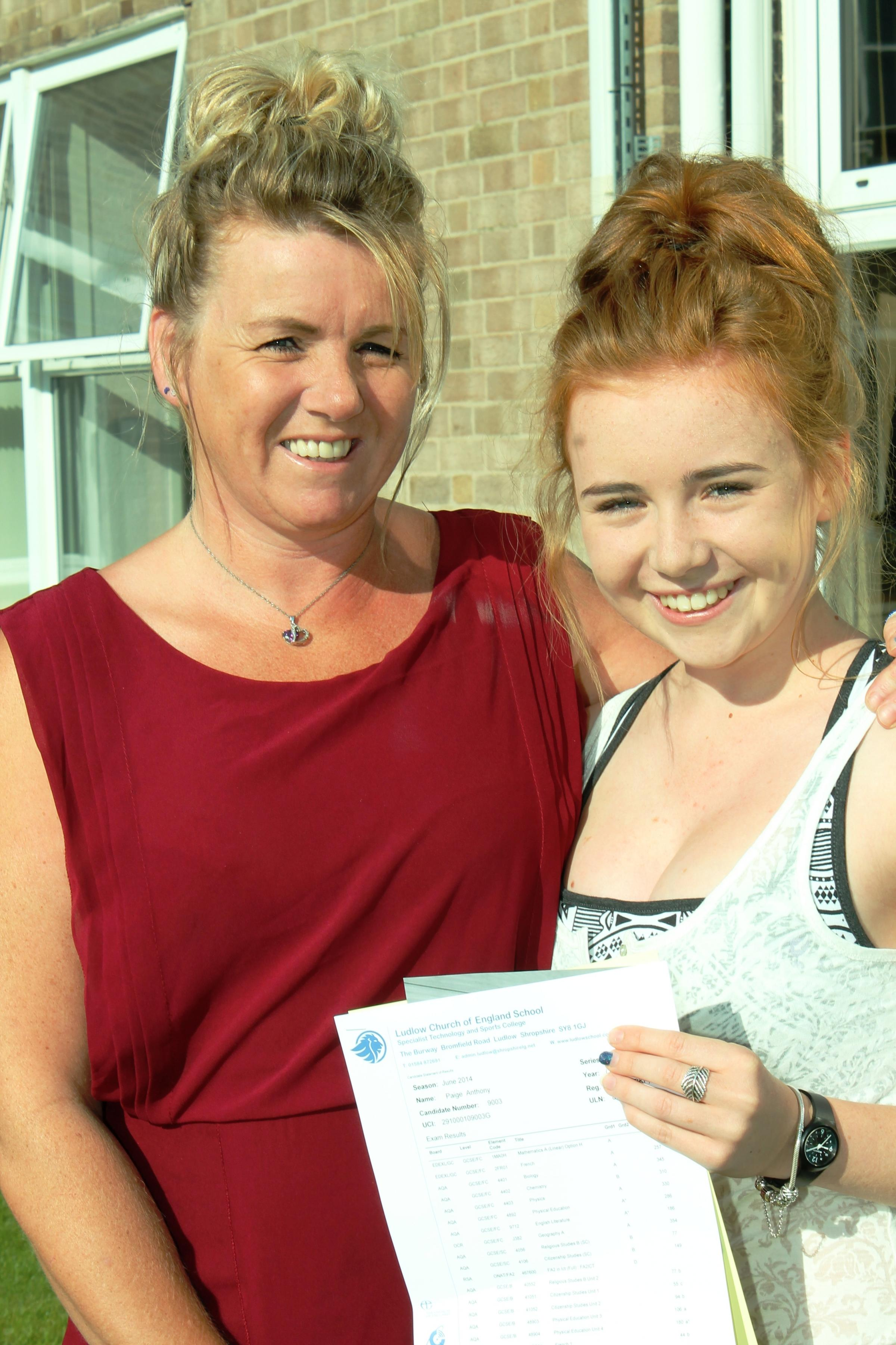 Ludlow School gets best ever English results