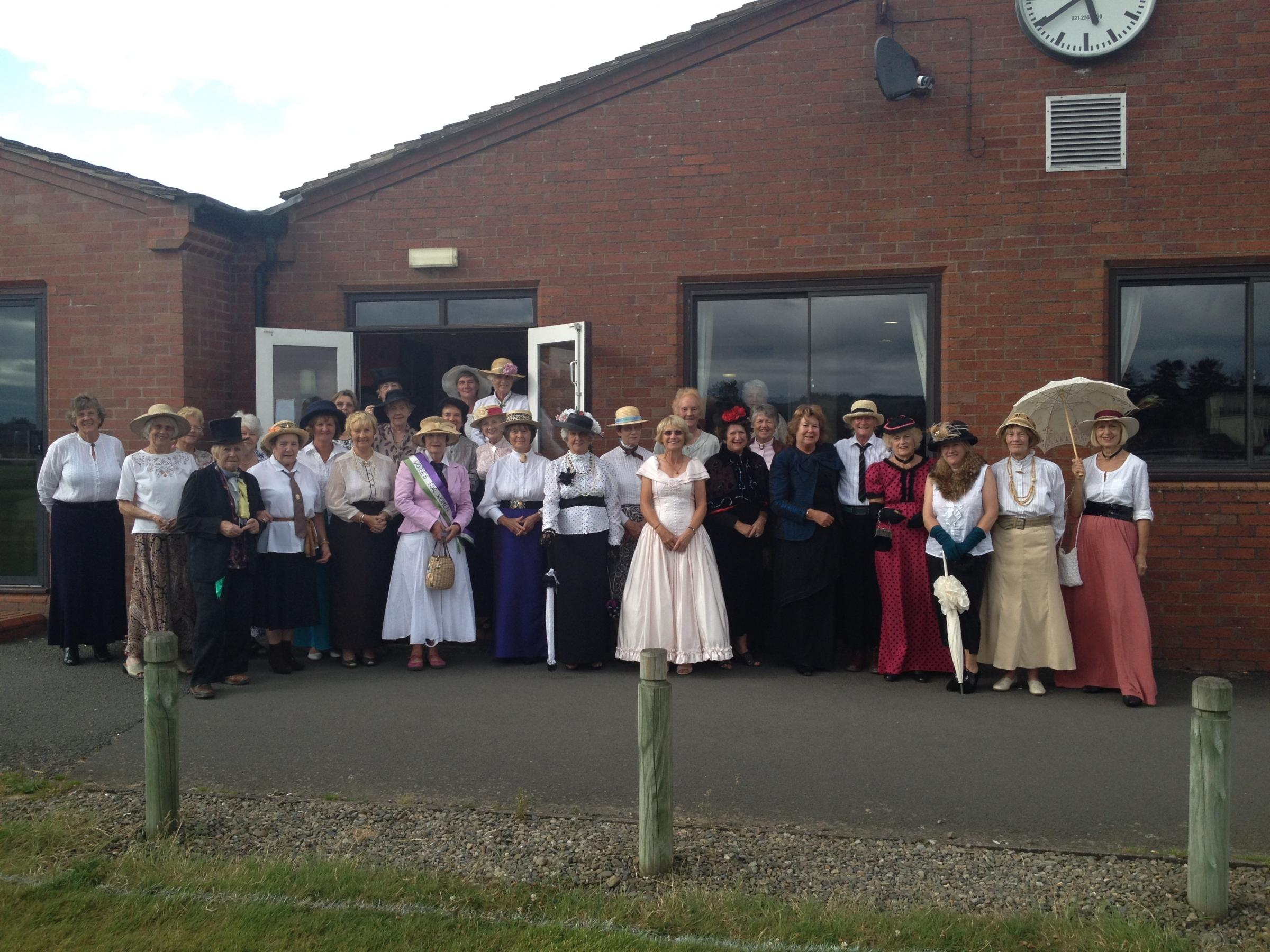 Ladies at Ludlow Golf Club dressed in Victorian costume to mark its 125th anniversary.