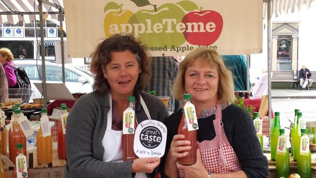 Tish Dockerty and Jane Cullen on Ludlow Market.