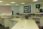 One of the refurbished science laboratories at Ludlow School.