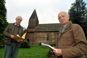Woodpeckers damage St Michael's Church in Knighton-on-Teme