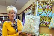Lynne Thompson, from Tansy Cottage Crafts, Clunbury, displayed her selection of home made memo boards and bags. 1447_51001. Photos: Andy Compton.