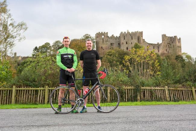 From left: Storm the Castle organisers Dermott Hayes and Matthew Morris