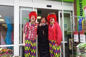 Comic Relief fundraising at food stores